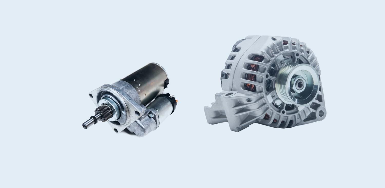 Starter und Lichtmaschine